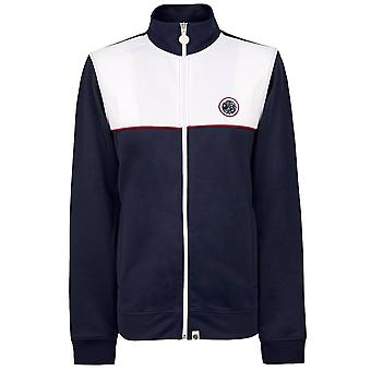 PRETTY GREEN Navy/white Contrast Panel Track Top