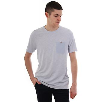 Ted Baker mens Web SS Pocket detail SLUB T shirt