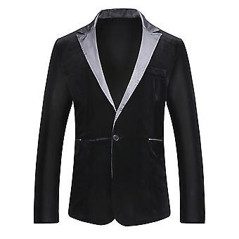 Alle Themen Men's Peak Revers Blazer 1 Knopf solide Hochzeit Event Kleid Jacken