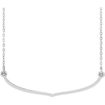 925 Sterling Silber poliert Freiform Bar Halskette Schmuck Geschenke für Frauen - 2,3 Gramm