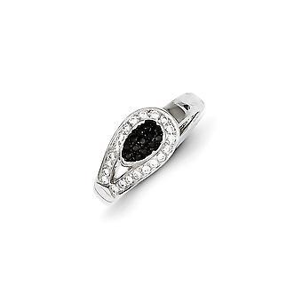 925 Sterling Silver Rhodium plaqué et CZ Cubic Zirconia Simulated Diamond Teardrop Ring Taille 7 Bijoux Cadeaux pour les femmes