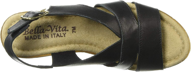 Bella Vita Womens Jaz-italy Leather Open Toe Casual Slingback Sandals
