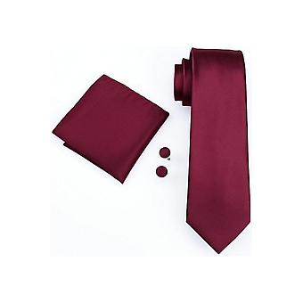 JSS Wine Pocket Square, Cufflink And Tie Set