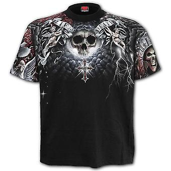 Spiral Life And Death Allover Cross T-Shirt