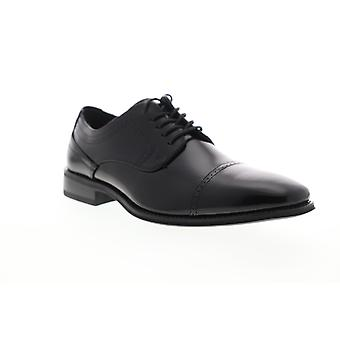 Stacy Adams Waltham Cap Toe Mens Zwart Leer Low Top Oxfords Schoenen
