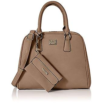 Bessie London Gold Metal Clasps Tote - Brown Women's Bags (Brown) 15x26x33cm (W x H L)