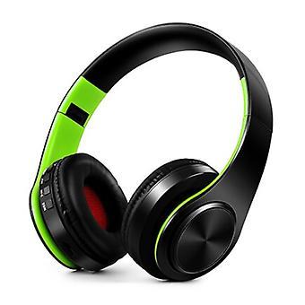ZAPET Wireless Headphones Bluetooth Wireless Headphones Stereo Gaming Green-Black