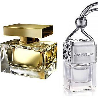 D&G The One For Her Inspired Fragrance 8ml Chrome Lid Bouteille suspendu Véhicule Auto Air Assainisseur