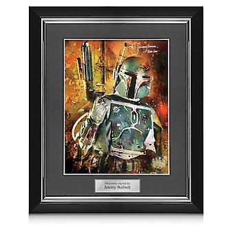 Boba Fett Signed Star Wars Poster: Bounty Hunter. In Deluxe Frame