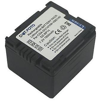 Dot.Foto Panasonic CGA-DU12, CGA-DU14, VW-VBD140 Ersatz-Akku - 7,2 v / 1800mAh