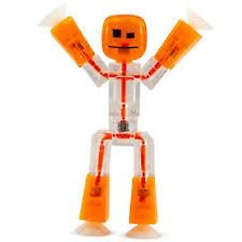 Stikbot Figure White & Orange - Translucent