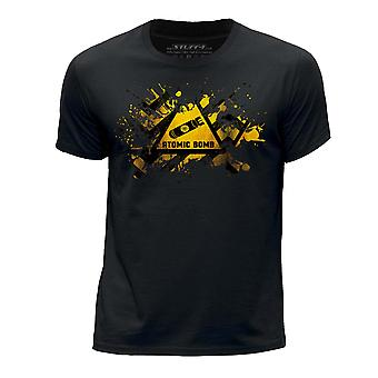 STUFF4 Boy's Round Neck T-Shirt/Splat/Hazard/Atomic Bomb/Black