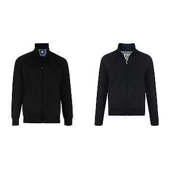 Kam Jeanswear Mens Full Zip Through Fleece Top