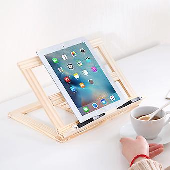 Cookbook Holder Made Of Bamboo - For Kitchen And Office - Recipe Holder With 3 Tilt Levels Reading Stand