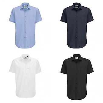 B&C Mens Smart Short Sleeve Shirt / Mens Shirts
