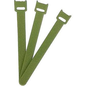 FASTECH® ETK-3-150-0332 Krok-och-slinga kabelslips för buntning Krok och slinga pad (L x W) 150 mm x 13 mm Grön 1 st( er)