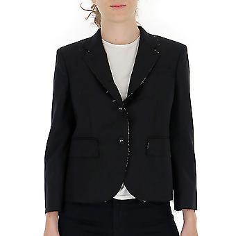 Thom Browne Fbc608b00473001 Women's Black Cotton Blazer