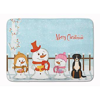Merry Christmas Carolers Greater Swiss Mountain Dog Machine Washable Memory Foam