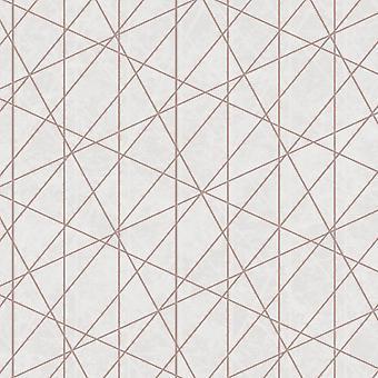 Debona Laser Geometric Metallic Stripe Glitter Embossed Textured Wallpaper 2479