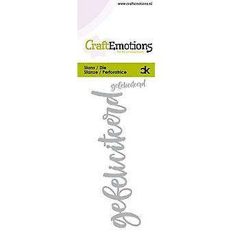 CraftEmotions يموت رسالة اليد -- gefeliciteerd (NL) بطاقة 5x10cm كارلا كامبهويس