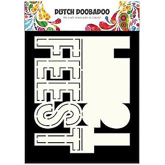 Hollandsk Doobadoo hollandsk kort Kunst tekst Feest (NL) A5 470.713.639