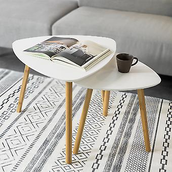 SoBuy Nesting Tables, Set of 2 Side Tables End Tables,Coffee Tables,FBT74-W