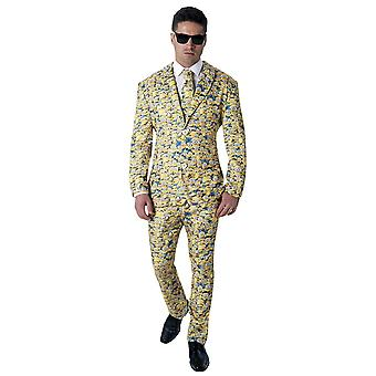 Minions Mens Icon Patterned Suit