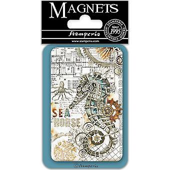 ستامبريا بحر الحصان 8x5.5cm المغناطيس