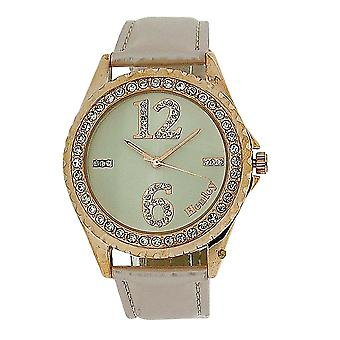 Henley Ladies Rose Goldtone Crystal Dial Pearlised Strap Watch H06071.14