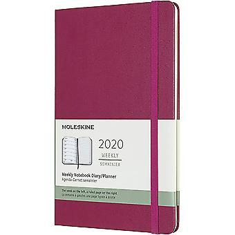 Moleskine 12months weekly notebook large - plum purple - hard cover