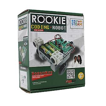 OWI Rookie Coding Robot Kit | 25 Piece Do-It-Yourself Assembly | Simple Press-Button Programming | No Computer or Tablet Needed | Code at Your Own Skill Level