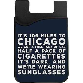 Blues Brothers Sunglasses Quote Phone Card Holder
