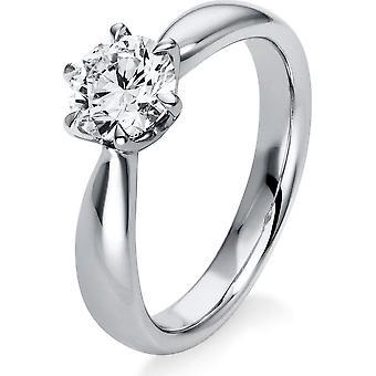 Diamant ring ring - 18K 750/- Hvitt gull - 1,0 ct. - 1N559W854 - Ring bredde: 54