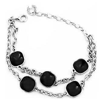 Ladies'Bracelet Viceroy 1031P000-45 Silver Black (19 Cm)