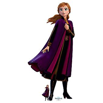 Anna Purple Coat from Frozen 2 Official Disney Cardboard Cutout / Standee