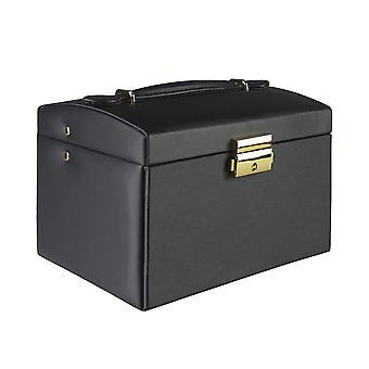 Jewelry box, Artificial Leather - Black