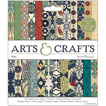 """Papermania Arts & Crafts – 6""""x6"""" Paper Pack, 50 Sheets"""