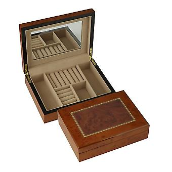 Orton West Small Jewellery Box - Brown/Beige