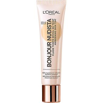 3 x L'Oreal Paris Bonjour Nudista Awakening Skin Tint BB Cream 12ml Medium