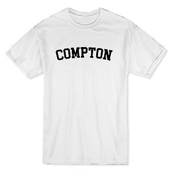 コンプトン市を示す誇りメンズ ホワイト t シャツ