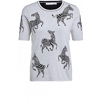 Oui Zebra Design Knit Jumper