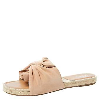 Franco Sarto kvinnors Pandora läder öppen tå casual Slide sandaler