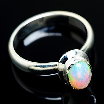 Natural Ethiopian Opal Ring Size 8.25 (925 Sterling Silver)  - Handmade Boho Vintage Jewelry RING7173