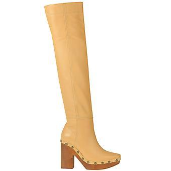 Jacquemus Ezgl240014 Women's Beige Leather Boots