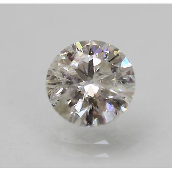 Certified 1.13 Carat E SI2 Round Brilliant Enhanced Natural Loose Diamond 6.75mm