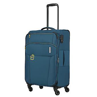 travelite Go Trolley M, 4 rollen, 66 cm, 58 L, teal