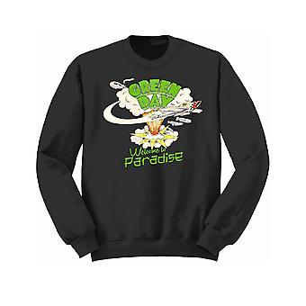 Green Day Kids Sweatshirt Black Welcome To Paradise band logo Official