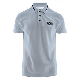EA7 White & Gold Short Sleeve Polo Shirt