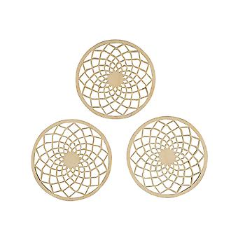 3 Wooden Dream Catcher Discs 7cm for Adult Crafts