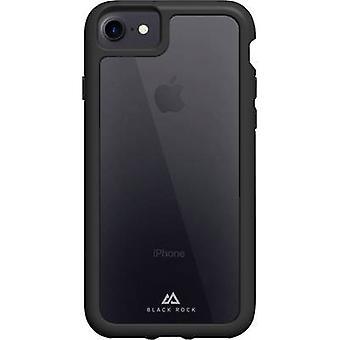 بلاك روك قوية غطاء شفاف أبل اي فون 7، اي فون 8 أسود، شفافة